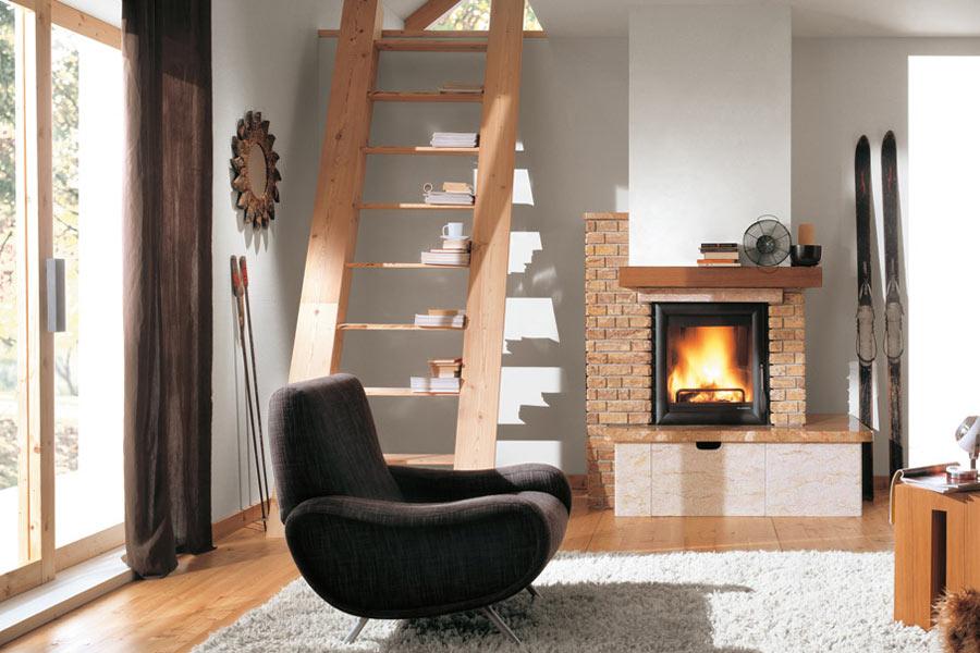 Caminetti combinati che funzionano a legna e pellet for Termocamini combinati legna e pellet palazzetti