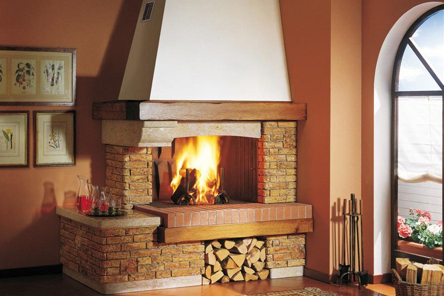 Caminetti a legna scegli il tuo focolare a legna - Cucine a pellet prezzi ...