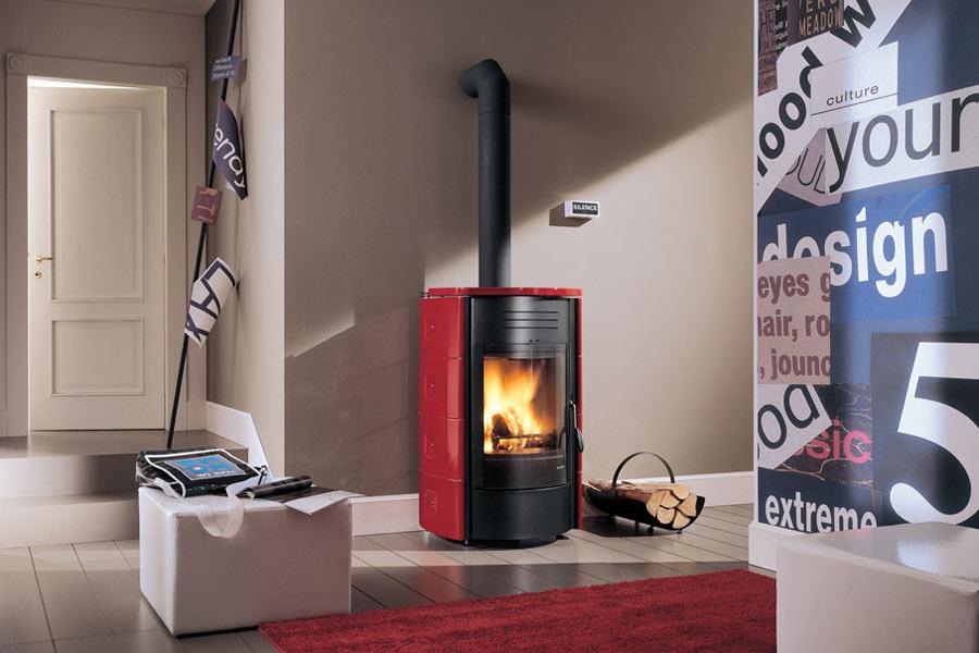 Termostufe a legna palazzetti amazing termostufe a legna - Termostufe a pellet usate ...